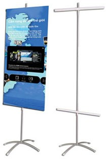 Picture Standy chữ thập treo banner hai mặt (60*160cm)