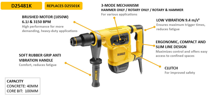 may khoan be tong dewalt D25481 gia re
